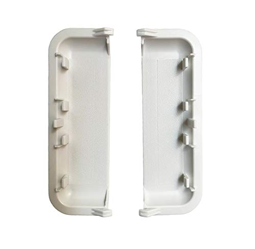 (Pack of 2) W10861225 Dryer White Door Handle Fit for W10861225VP, W10714516, Dryers Compatible with PS11731583 and AP5999398