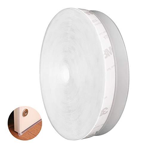 CUKCIC Dichtungsstreifen Selbstklebend Silikon Dichtungsband Zugluftstopper Schalldicht für fenster Frameless-tür (35mm×12m, Transparent)