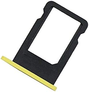 FidgetGear SIM Card Slot Holder Tray Replacement Repair Parts for Apple iPhone 5C New Yellow