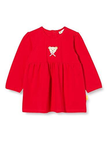 Steiff Baby-Mädchen mit süßer Teddybärapplikation Tunika, Rot (Tango RED 4008), 056