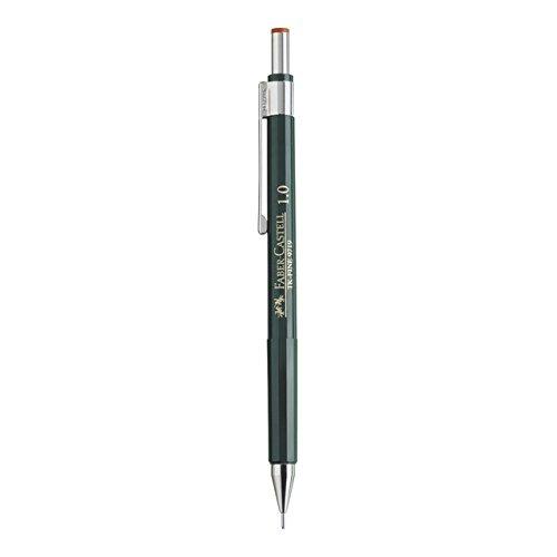 Faber Castell B-136900 - Portaminas TK-Fine con goma de borrar y 3 minas finas, graduación HB, trazo 0.9 mm, color negro