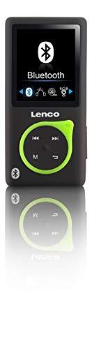 Lenco MP3-Player Xemio-768 - MP3-MP4-Player, 8 Gb Micro SD-Karte Inklusive Ohrstöpsel und Bluetooth- grün