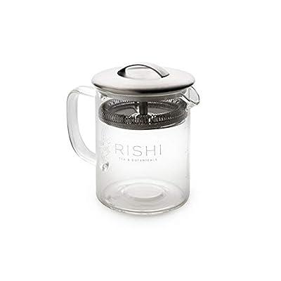 Rishi Tea Simple Brew Loose Leaf Tea Glass Teapot, 13.5 fl-oz (400 ml)
