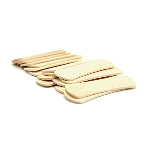 Espátula de madera para depilar, cuchara de helado, palo de madera, palo de madera, palo de madera, kit de manualidades, palo de helado, 57 mm