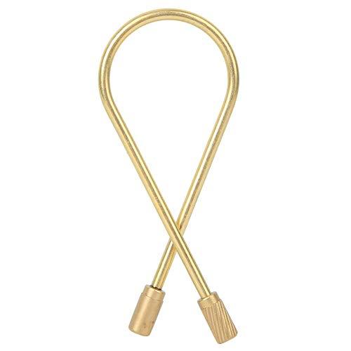 Atyhao Messing Schlüsselbund, Vintage Messing Schraube Schloss Schlüsselring für Männer Frauen Handwerk Geschenk