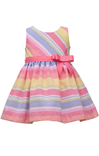 Bonnie Jean Easter Dress Spring Striped Dress for Baby Toddler and Little Girls (6)