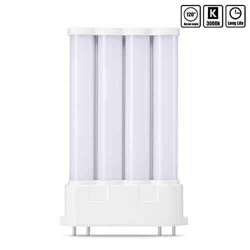 YWX 2G10 LED Lampe,10W 1000 Lumen LED Leuchtmittel 3000k Warmweiß ersetzt 100W Halogenlampen 4 Pin 120°Strahlwinkel Nicht Dimmbar Glühbirne