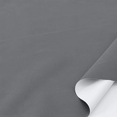 TOLKO Sonnenschutz Verdunklungsstoff Meterware | 100% Lichtdicht, zum Nähen für Verdunklungsvorhänge, Gardinen oder Verdunklungsrollo (Grau)