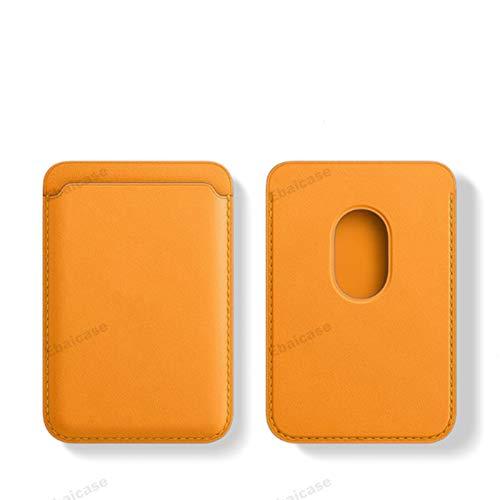 Tarjetero, tarjetero ultradelgado para iPhone12, tarjetero, tarjetero, tarjetero, tarjetero y tarjetero, tarjetero con funda magnética de cuero de lujo