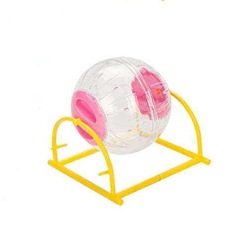 HJKND Little Hamster suministra Juguetes Bola de Correr Bola rodante Oso de Seda Dorado Bola de Cristal para Correr Deportes Rueda de Correr Rodillo Mudo