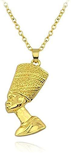 niuziyanfa Co.,ltd Collares con Colgante de Reina egipcia Nefertiti para Mujeres y Hombres, joyería de Color Dorado, joyería al por Mayor, Regalo Africano