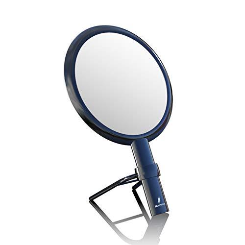 Beautifive Doppelseitiger Handspiegel mit Griff Schminkspiegel Kosmetikspiegel Spiegel mit 1x / 7X Vergrößerung Tischspiegel für Zuhause und Reise Vintage Elegante Schwarz