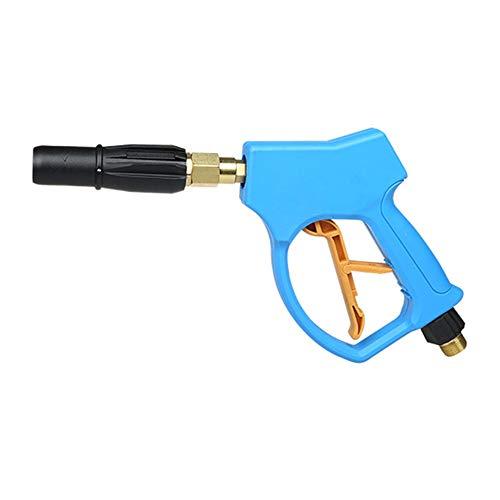 Auto wassen waterpistool, hoge druk schoonmaken pistool, ventilator mondstuk, grote koperkern, volledige koper Core Inlet, voor thuis, buiten, blauw