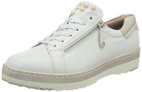 Tamaris Damen 1-1-23711-24 173 Sneaker, White/Champ, 38 EU