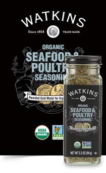 Watkins Organic Seafood & Poultry Seasoning 3.3 ounces