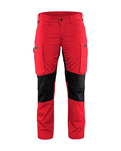 Dames Service werkbroek Stretch Armygroen/zwart C30, C36, rood/zwart