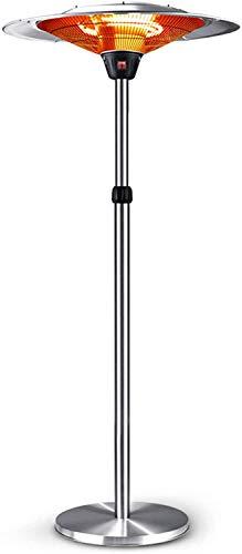 WJHCDDA Estufa De Gas para Exterior Metal Calentador de Patio Grande Impermeable al Aire Libre Paraguas Calentador, de Altura Ajustable, Restaurante Comercial Cubierta