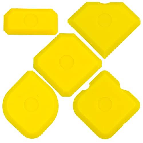 Fugenglätter Set 5-tlg - Fugenabzieher Set für Silikon und Acryl