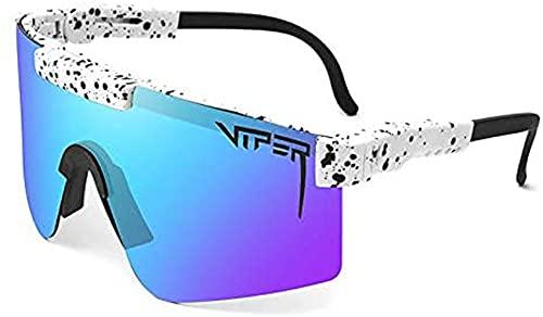 Pit Vipers Sportbrillen, Sport Sonnenbrille,Anti-UV-Outdoor-Radsport-Sportbrillen, UV-400-Brillen-Sonnenbrillen für Outdoor-Rennen Angeln Laufen Bergsteigen Golf Wandern Outdoor-Aktivitäten (C10)