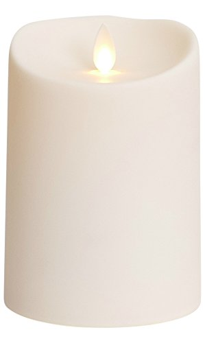 Luminara Outdoor Flameless Candle: Plastic Finish, Unscented Moving Flame Candle with Timer (5' Ivory)