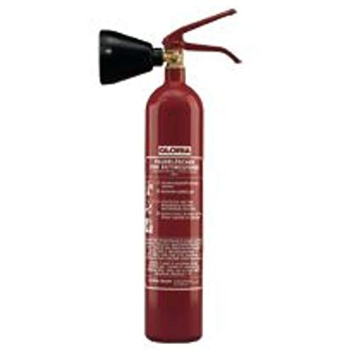 CO2 Feuerlöscher KS 2 ST, Stahlblech rot lackiert Löschmenge 2kg Brandklasse B