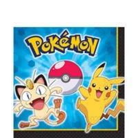 Paquete de 8 servilletas de almuerzo Pokemon