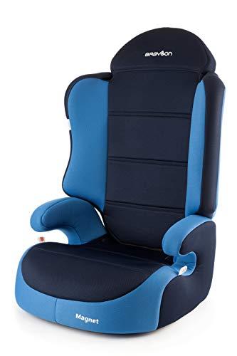 BABYLON silla coche grupo 2-3 Magnet silla bebe coche baby, silla de bebe para coche Niños 15-36 kg (3 a 12 años). silla coche sin isofix fabricada en Europa ECE R44/04 azul