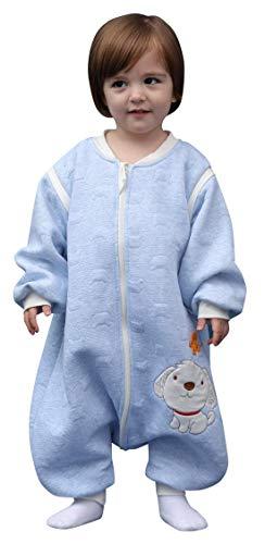 Saco de dormir para bebé con mangas extraíbles, 2,5 tog de algodón, para invierno, otoño, pijama, para niños, unisex, para niños de 6 a 48 meses