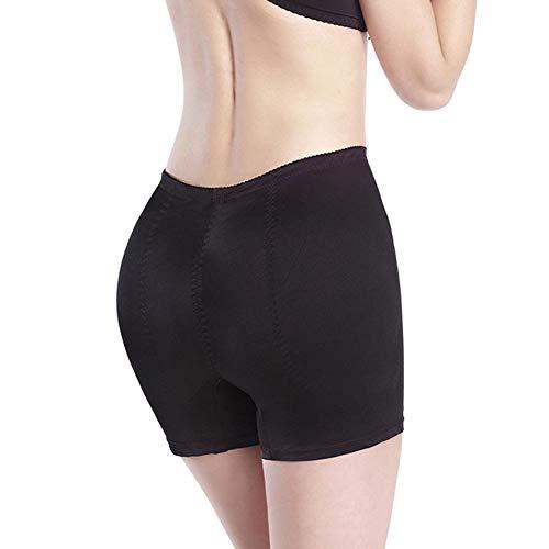 Mid-Rise Panties gewatteerde voering voor dames hip intensieve kunstfianchi Gathered Underwear - Zwart, Skin Tone XXXL Zwart