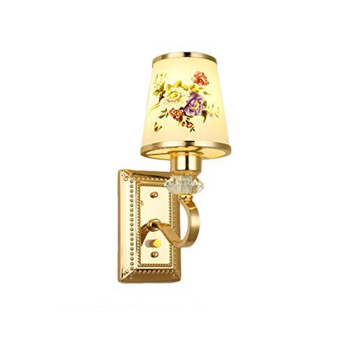 KFRSQ Lámpara de pared retro ajustable de latón, lámpara de pared de salón en estilo europeo dormitorio lámpara de noche escalera lámpara de pasillo lámpara de habitación de hotel iluminación