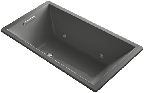Best Bargain KOHLER 1173-GVBCW-58 Underscore 66-Inch x 36-Inch Drop-In VibrAcoustic + BubbleMassage ...