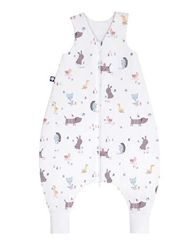 Julius Zöllner 9082767290 Jersey Jumper - Schlafsack mit Beinen, Crazy Animals, circa 92 cm, mehrfarbig,  Crazy Animals, 18-36 Monate / 92 cm, Mehrfarbig