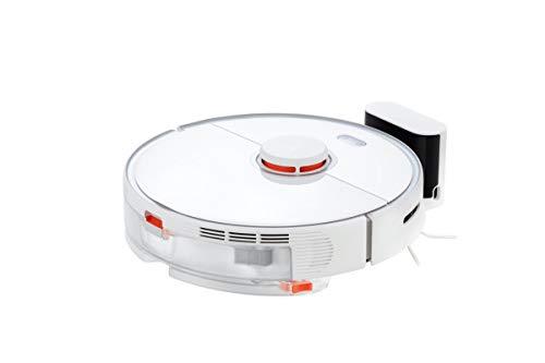 Roborock S5 Max Saug- und Wischroboter (Saugleistung 2000Pa, 180min Akkulaufzeit, 460ml Staubbehälter, 290ml Wassertank, 69db Lautstärke, Adaptiver Routenalgorithmus, App- und Sprachsteuerung) Weiß