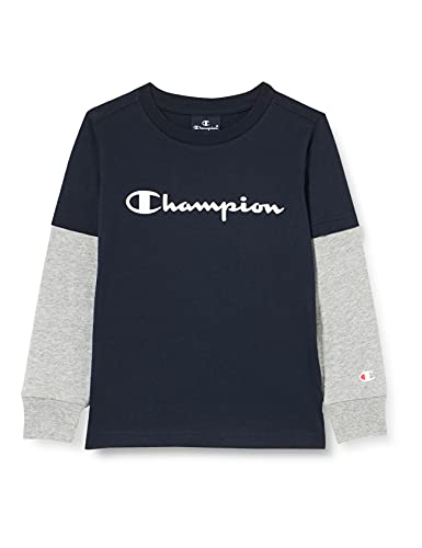 Champion American Classics Overlay Long Sleeve T-Shirt, Bleu Marine, 16 Anni Bambina