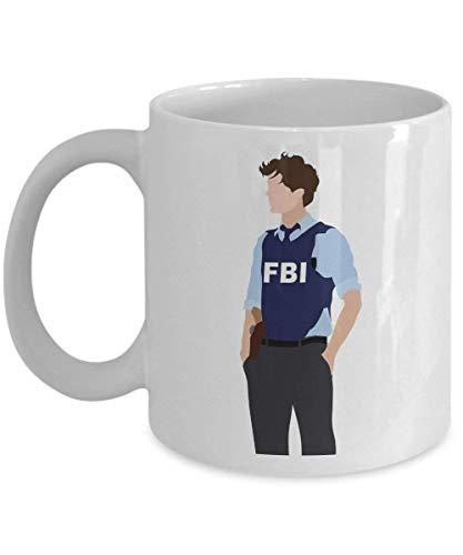 NIMOO Spencer Reid Criminal Minds Taza de café (Blanco) Criminal Minds Reid Merchandise FBI Regalo Accesorios Camisa Poster Sticker Pin Decal Artwork