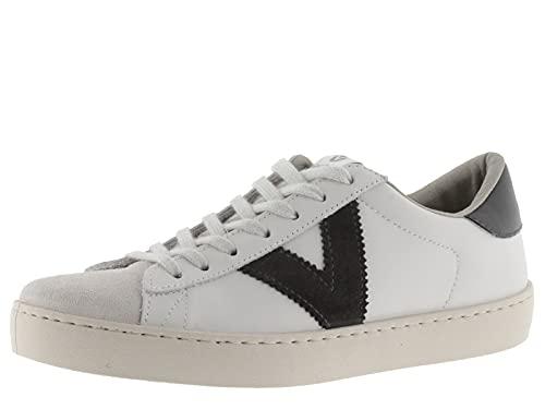 victoria 1126142-WOMEN Berlin Sneaker Pelle CONTRASTE Flatform Donna Antracita 38