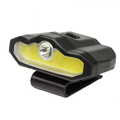 Clip del Casquillo Multi-función De Luz Recargable Cap Proyector Led para La Pesca Escalada Bicicleta Correr Negro