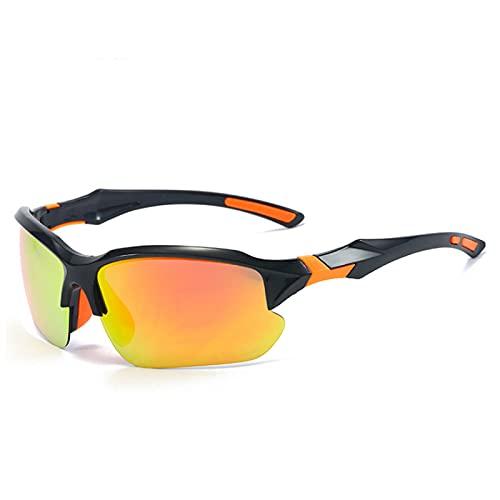 SaltshIII Gafas de Sol Deportivas polarizadas Gafas de Ciclismo fotocromáticas Gafas y Gafas de Sol Deportivas al Aire Libre para Hombres (Naranja Negro)