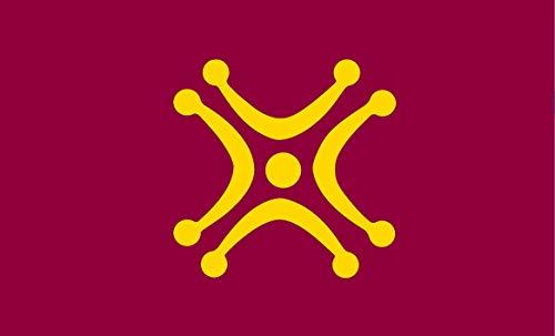 Durabol Bandera de Lábaro cántabro 150X90 CM Flag Satin
