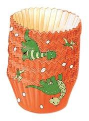 Kaiser Bakeware Patisserie Dinosaurier Papier-Backförmchen, Mini