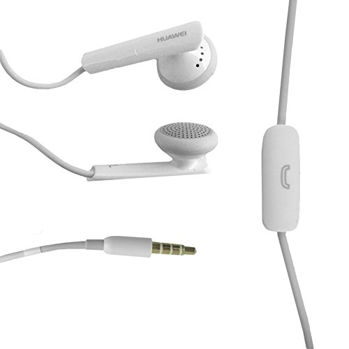 Genuine Huawei Weiß 3.5mm Stereo Kopfhörer Headset mit Mikrofon für geeignet Huawei Ascend Y220, Y320, Y520, Y550, Y530, G630, G600, G610, G620, G700, Mate7, Honor 6, Honor 4, P6, P7 and Other Huawei 3.5mm Jack Devices in Bulk Verpackung