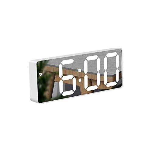 KKSH Sveglia Digitale a Specchio, Sveglia Numerica Display a LED, luminosità Regolabile, per Camera da Letto, Ufficio