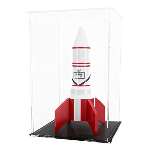 HUIJINTAO Vetrina in Acrilico Vetrina da appoggio Scatola cubo Organizzatore Vetrina Protezione Antipolvere per Action Figure/Oggetti da Collezione(8x8x12inch;20x20x30cm)