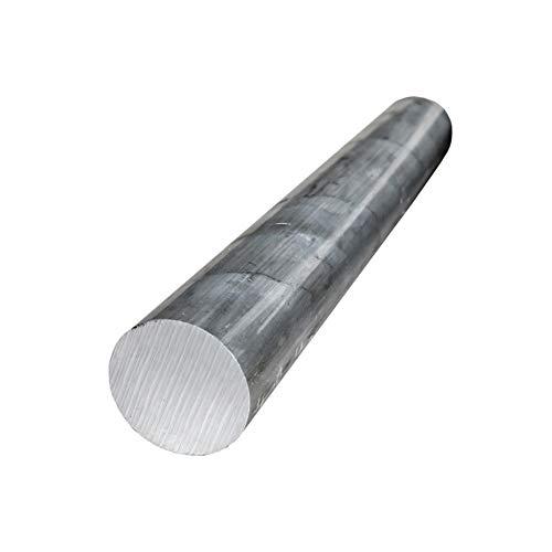 AFexm Varilla Redonda de Aluminio para maquinabilidad y soldabilidad Piezas de maquinaria de Bricolaje sólidas - Longitud 500 mm,1 pcs,Diameter 25mm