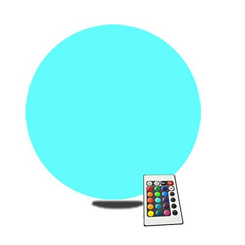 Lámpara de Noche LED Que Cambia de Color con Mando a Distancia, IP65 a Prueba de Agua Luz de Estado de Ánimo de Bola Luminosa, Alimentado por USB, para Jardín, Patio Trasero, Estanque