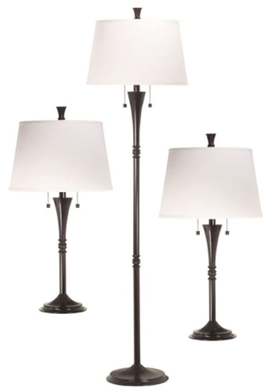 Kenroy Home 30843ORB Park Avenue 3-Piece Lamp Set with Oil-Rubbed Bronze Finish