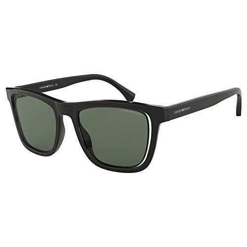 Armani EA4126F 500171-51 - Gafas de sol con montura negra, color verde EA4126F-500171-51