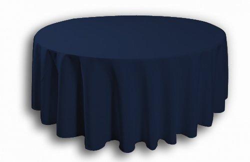 5 X Bleu marine 304,8 cm R rond Banqueting Nappe Polyester réception de mariage