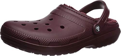 crocs Unisex-Erwachsene Classic Lined Clogs, Rot (Burgundy/Burgundy 60U), 43/44 EU