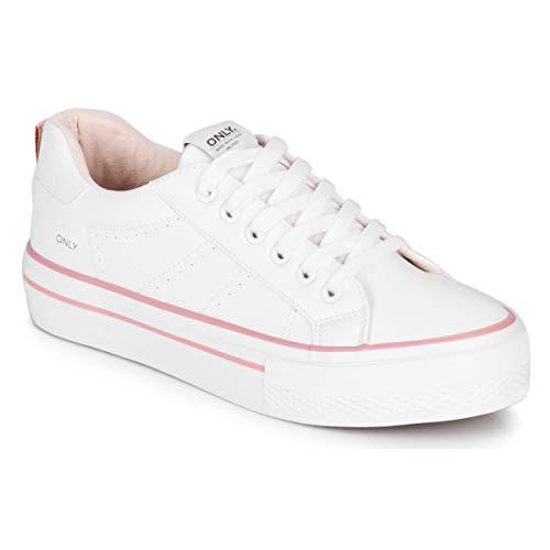 ONLY Damen Sneaker Low ONLSAILOR weiß 38